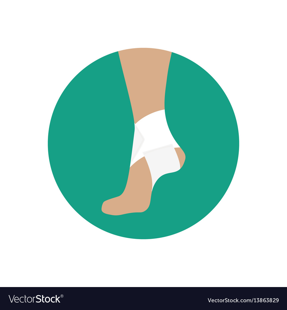 Elastic bandage for the ankle joint vector image