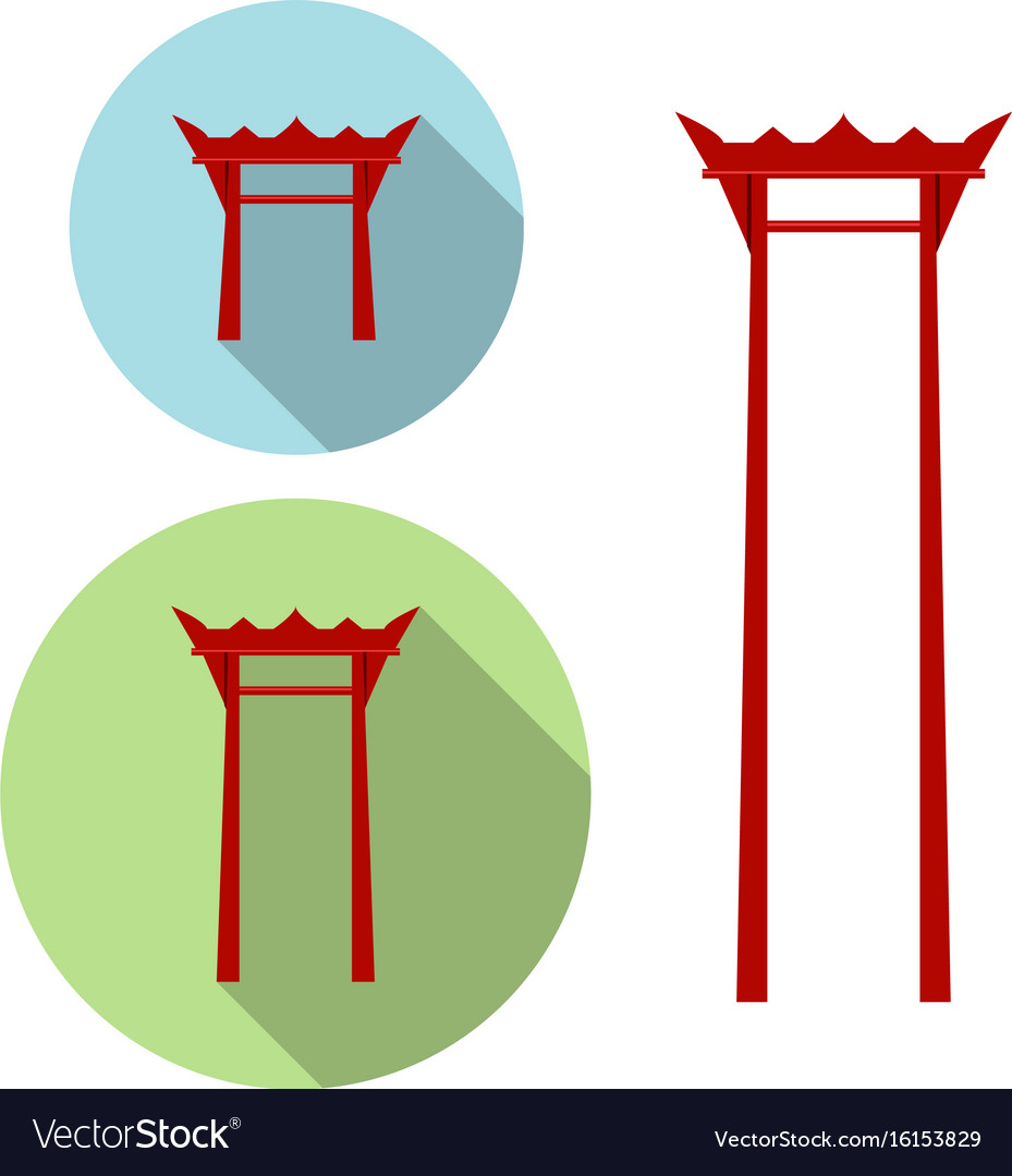 Giant swing torii gate icon Royalty Free Vector Image