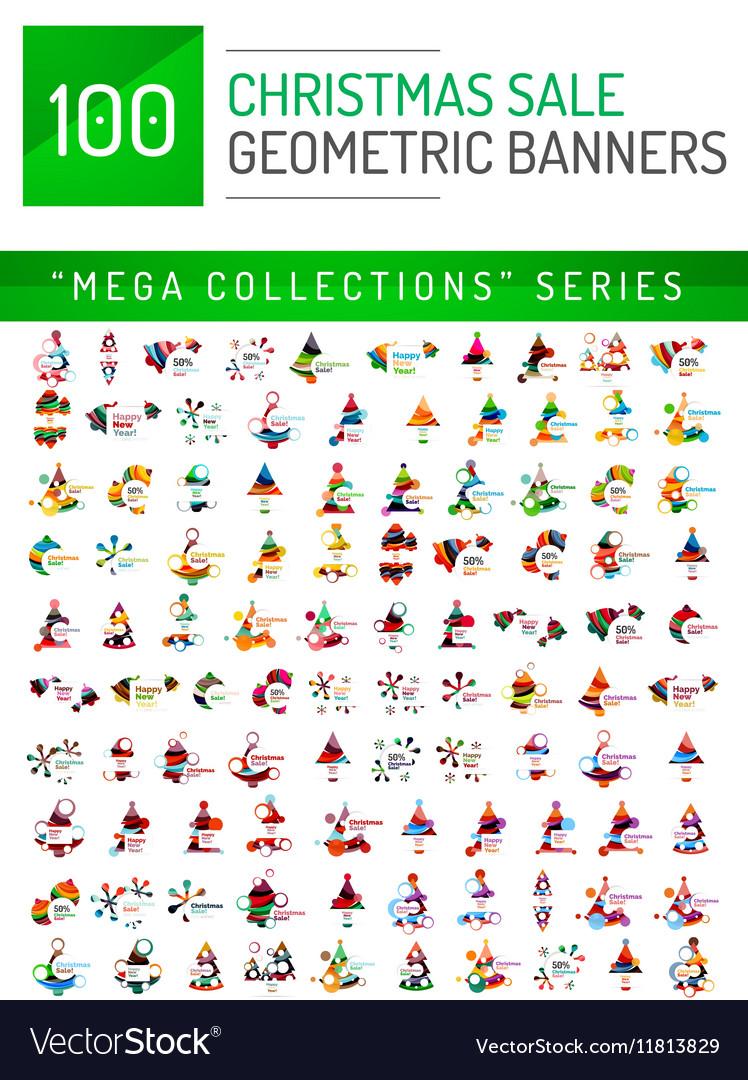 Mega collection of Christmas sale banner templates