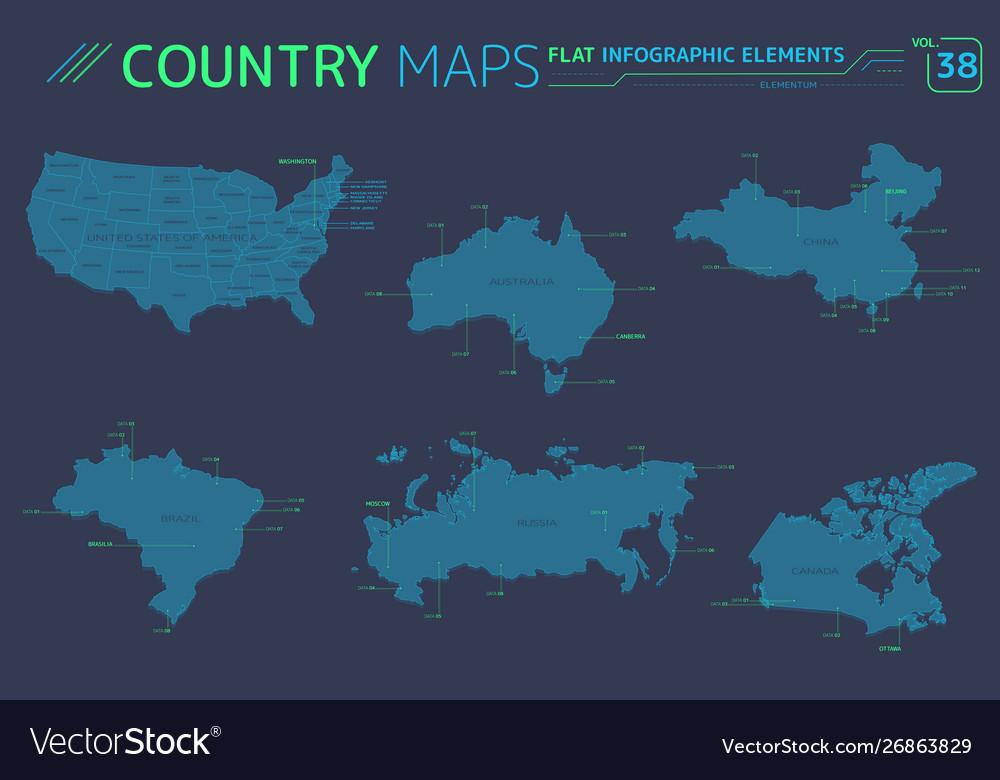 Russia canada china united states brazil and