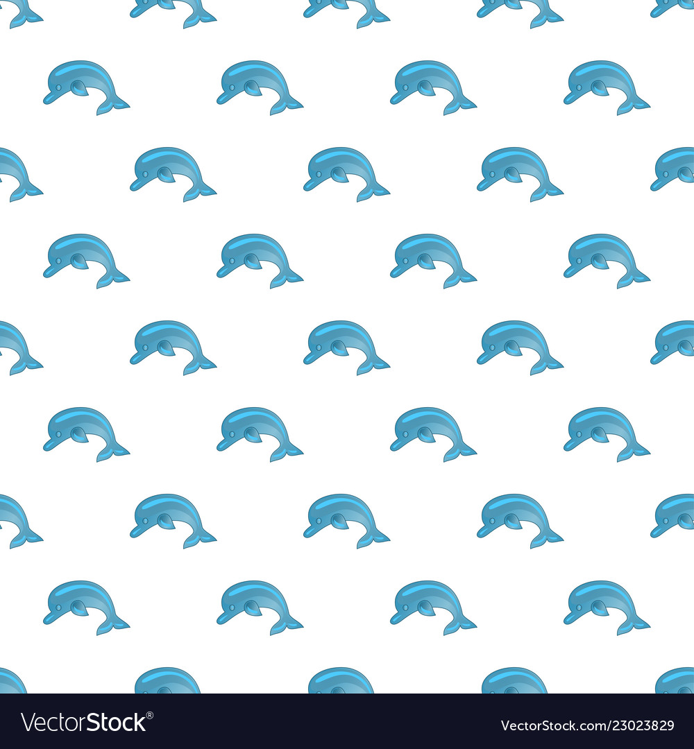 Seamless pattern with dolphins cute marine