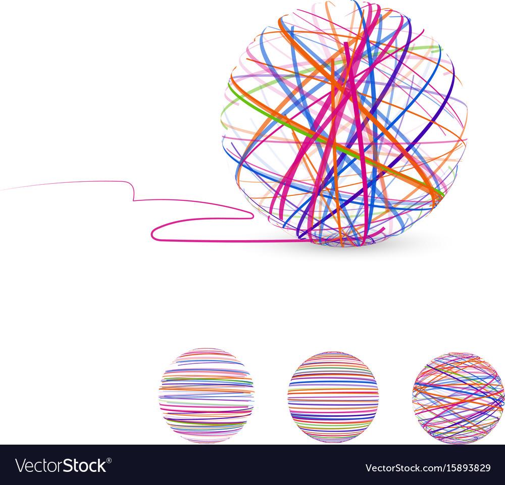 Tangle Ball Thread Royalty Free Vector Image Vectorstock