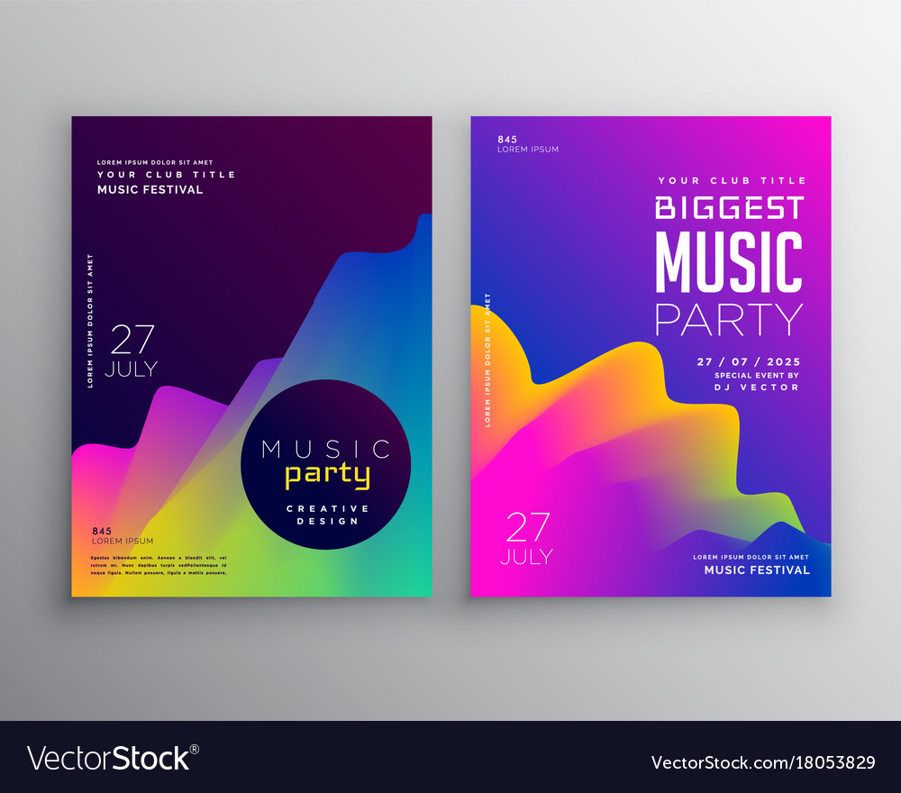Vibrant abstract music party event flyer poster