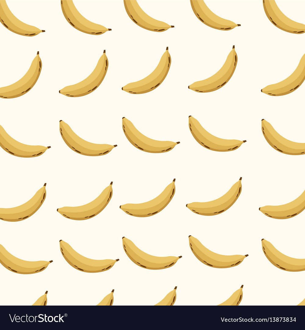 Banana fruit seamless pattern vector image