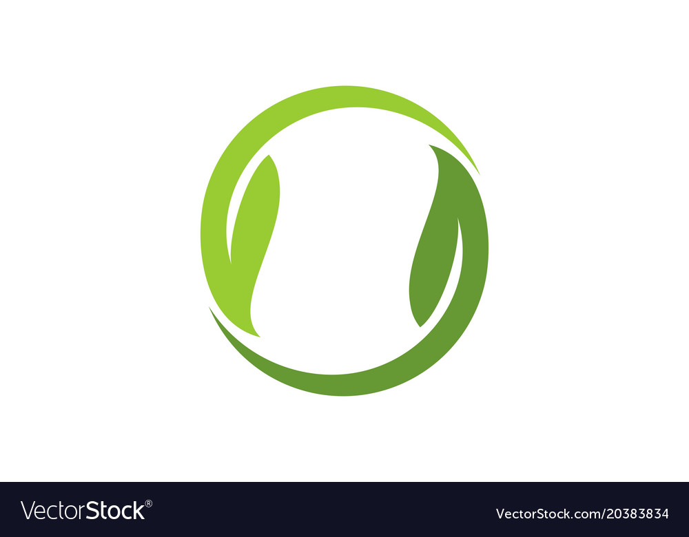 Circle green leaf logo