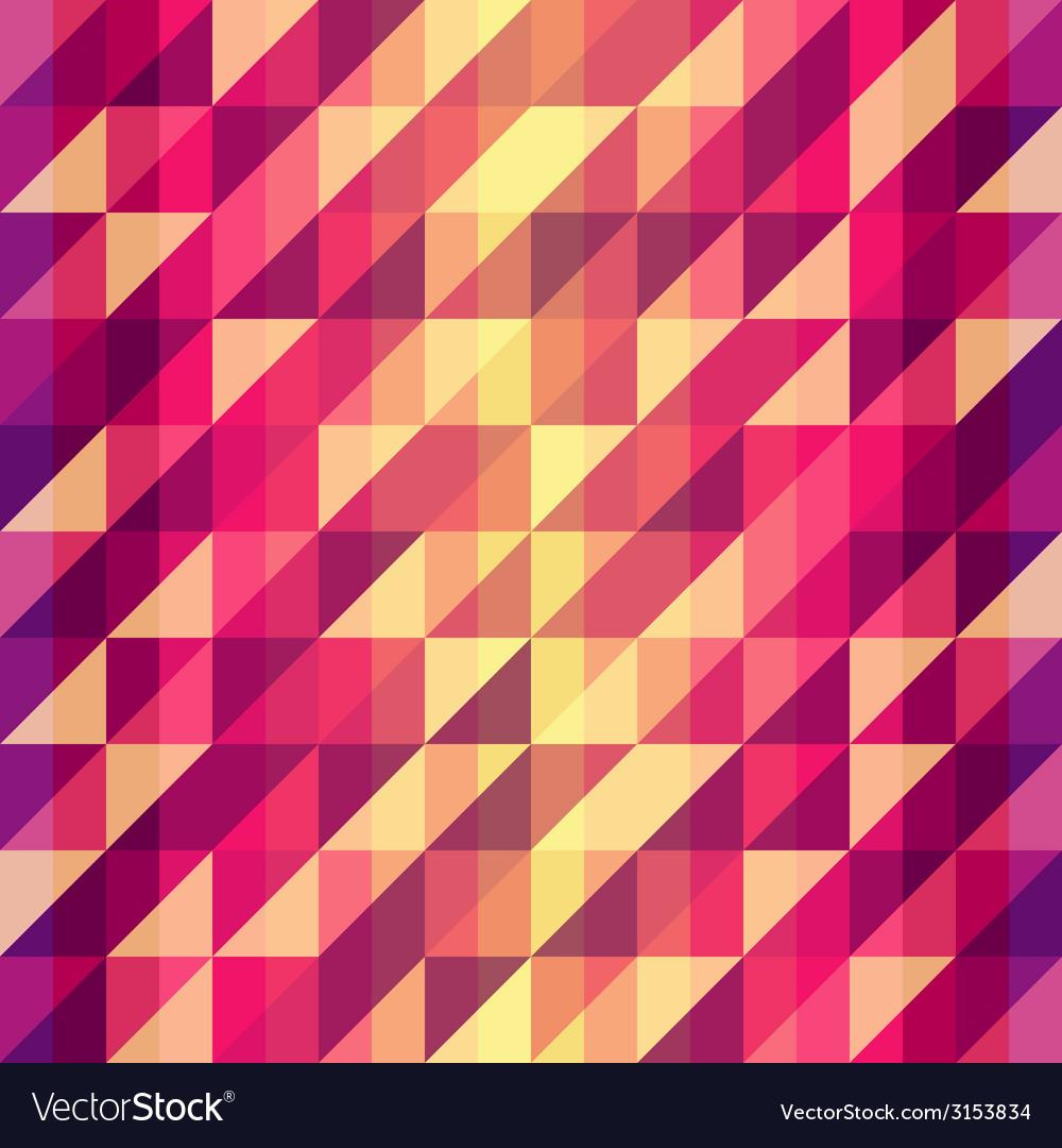 Colorful geometric Retro pattern