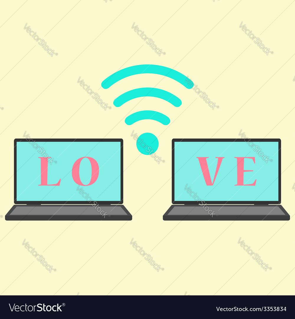 Concept of communication in love vector image