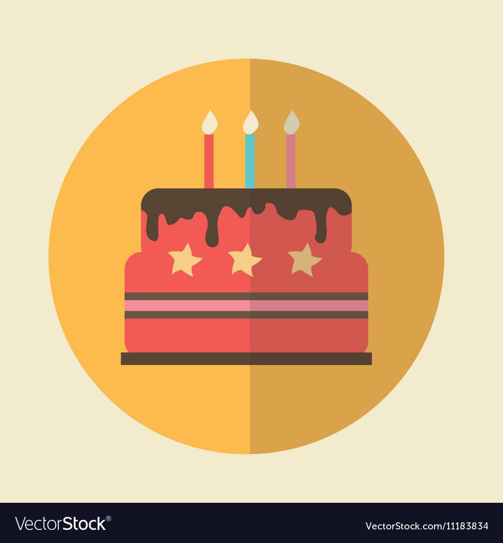 Flat Icon birthday cake icon