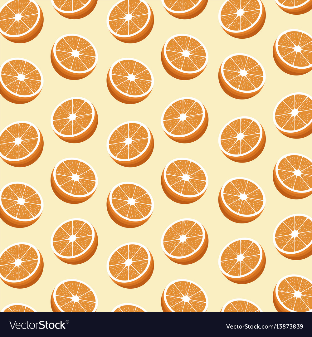 Half orange fruit seamless pattern