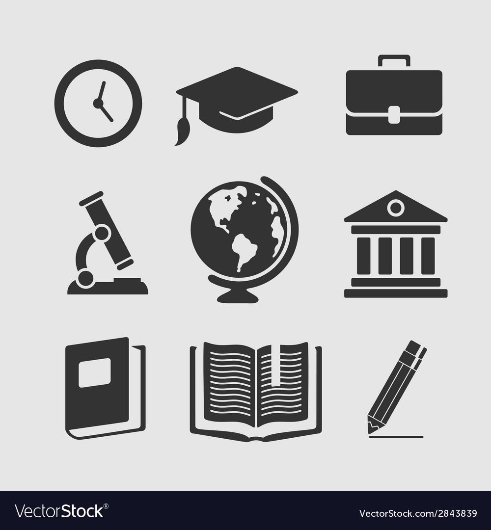 Set Of Symbols Education Royalty Free Vector Image