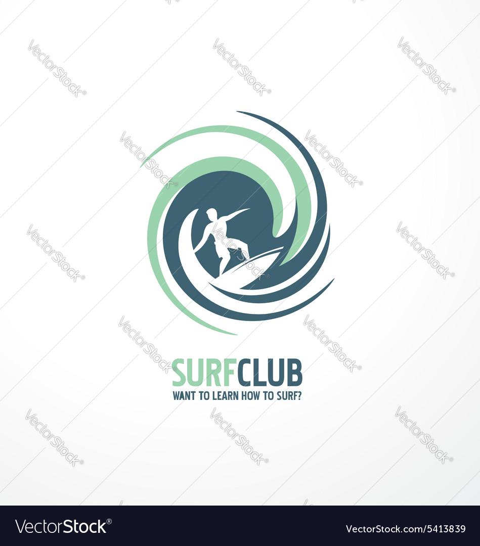 Surfing club logo design