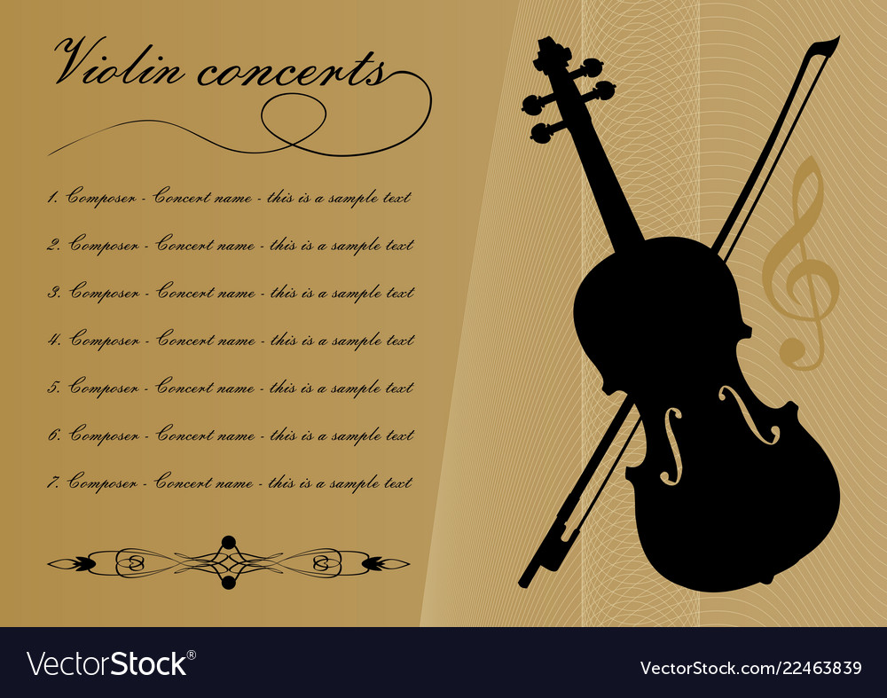 Violin Concerts Program Template With Black Violin