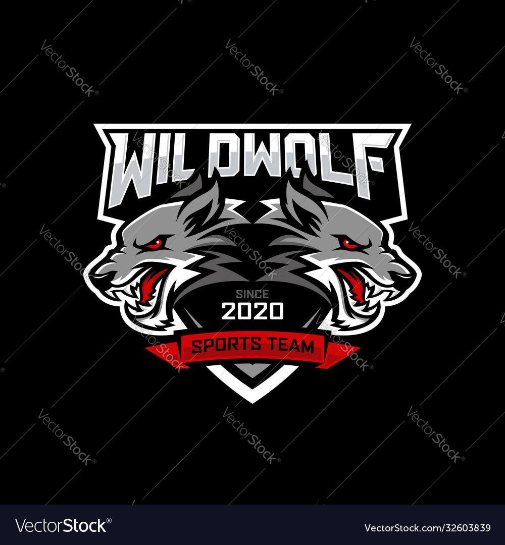 Wolf e-sports logo design