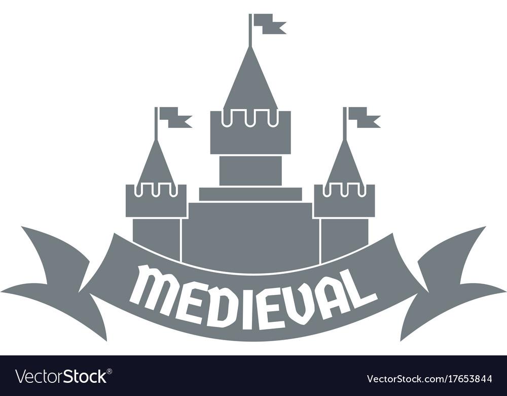 Castle logo simple gray style