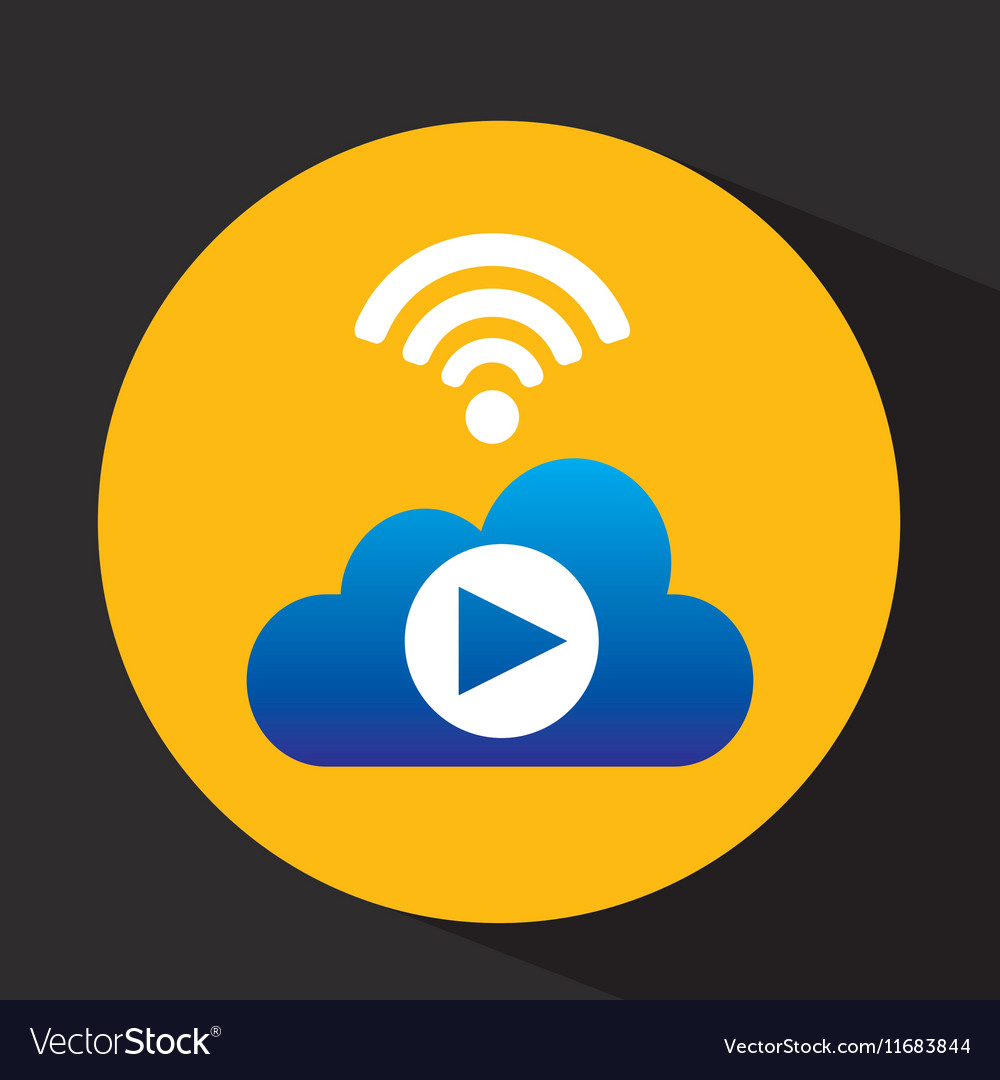 Cloud concept video play internet share graphic