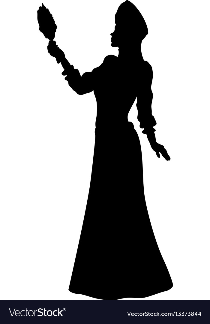 fantasy fabled princess silhouette royalty free vector image