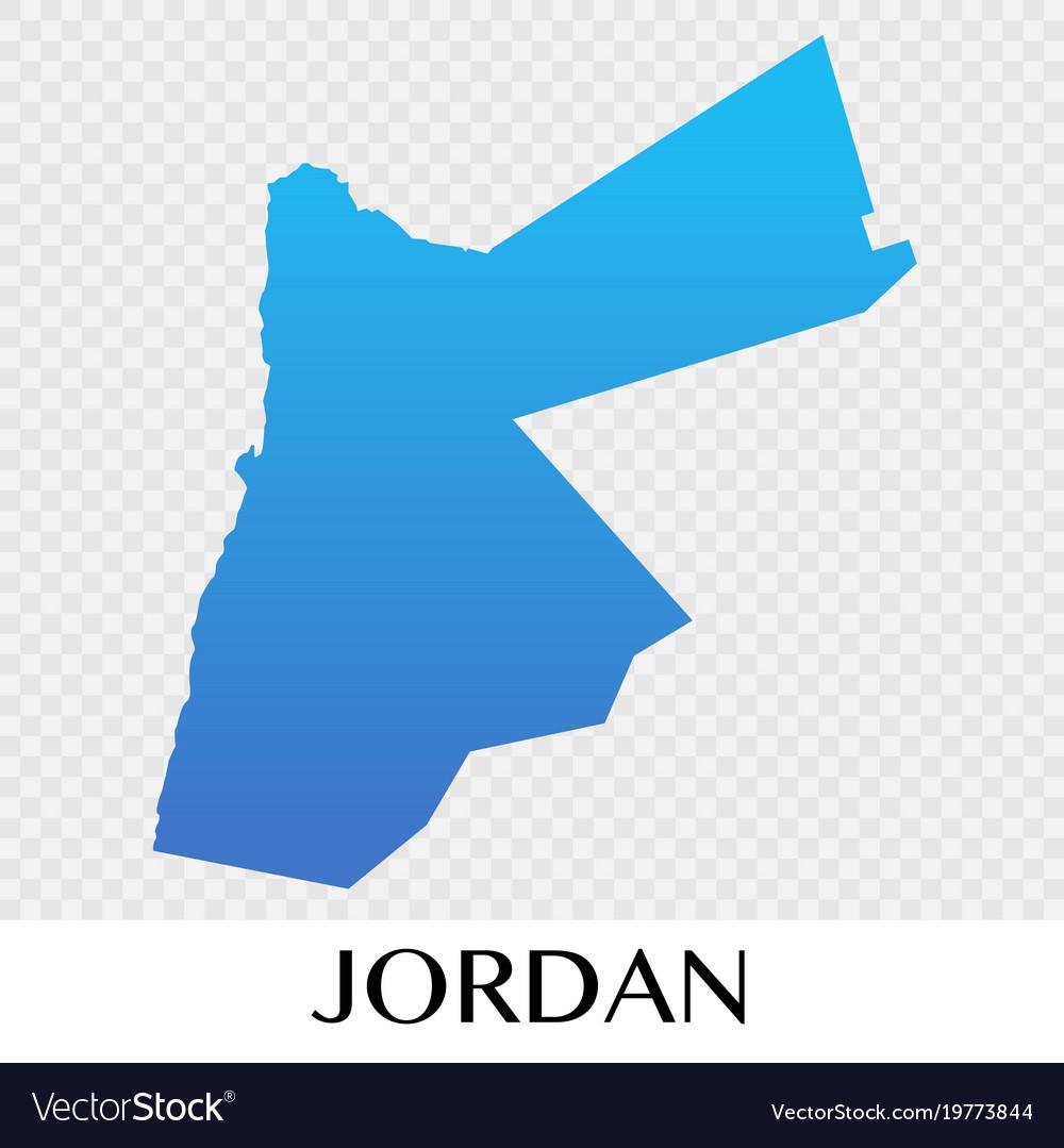 Jordan map in asia continent design