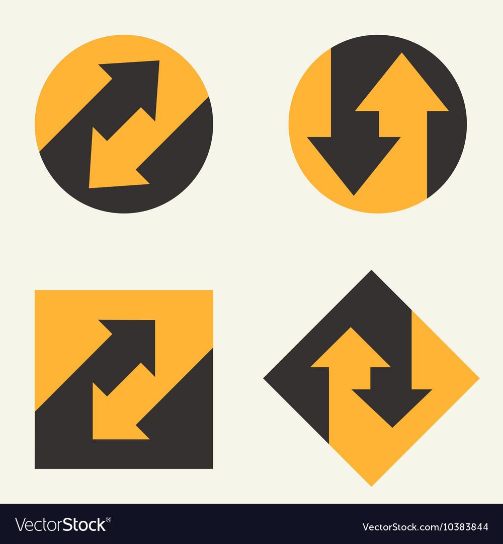 Modern set template monogram emblem logo symbol