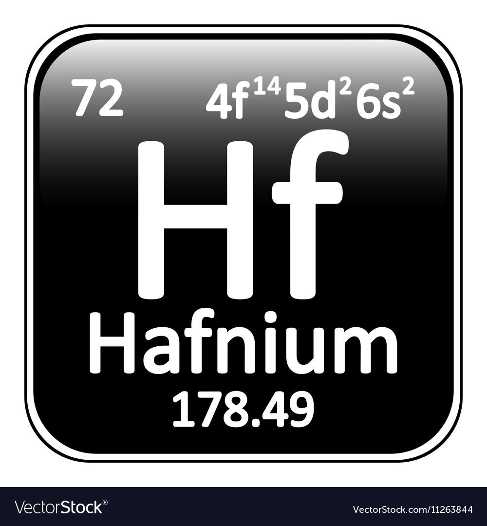 Periodic table element hafnium icon vector image