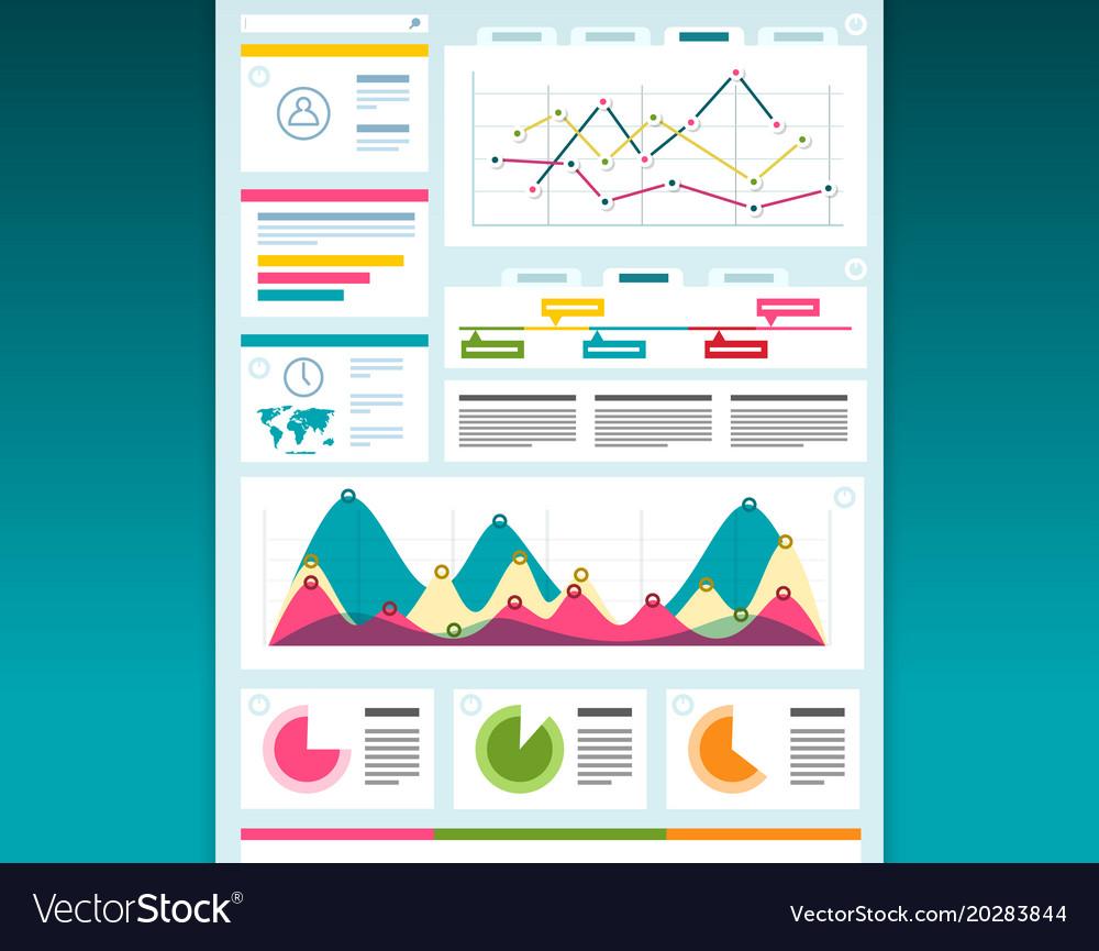 Web design dashboard template creative layout