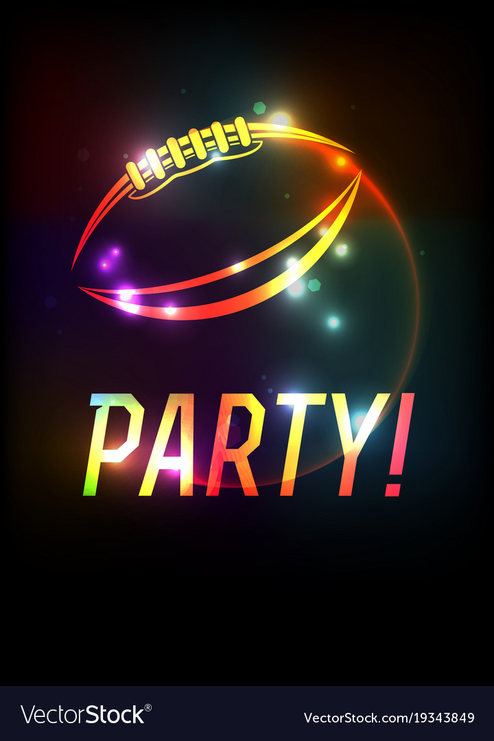 American football party template background