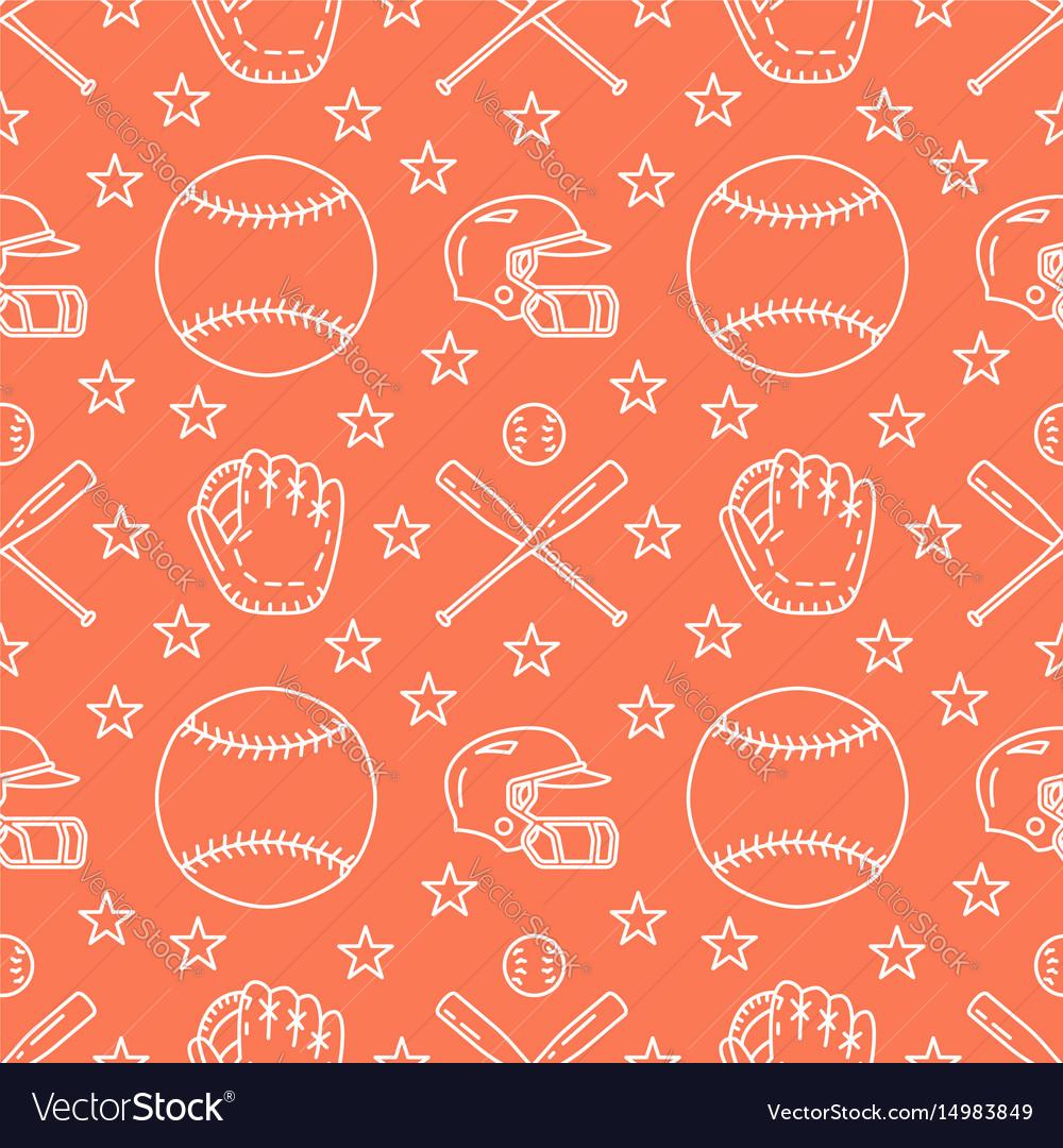 Baseball softball sport game seamless