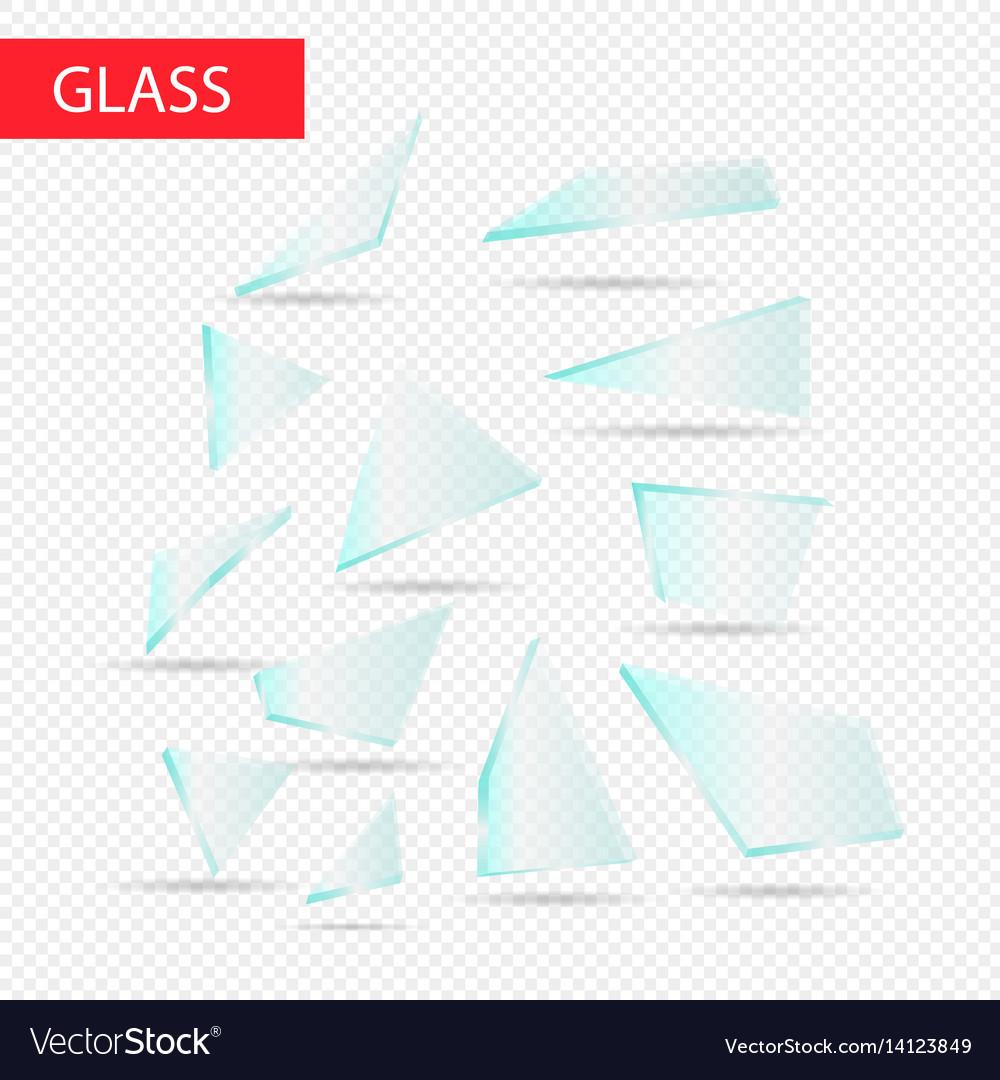 Glass pieces transparent glass
