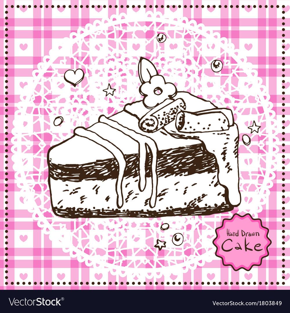 Hand drawn Cake