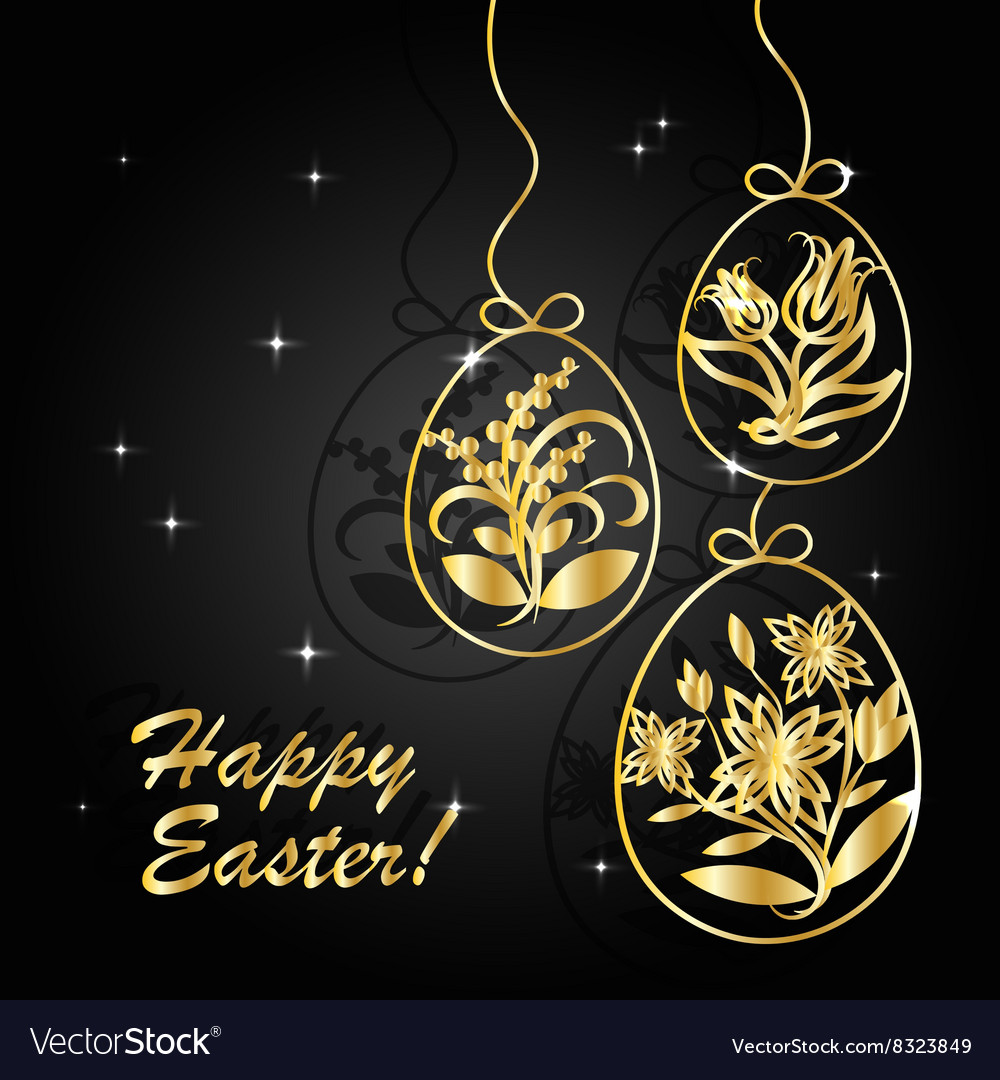 Happy Easter greeting card