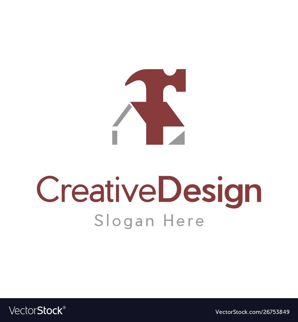 Home Repair Services Creative Logo Design Vector Image