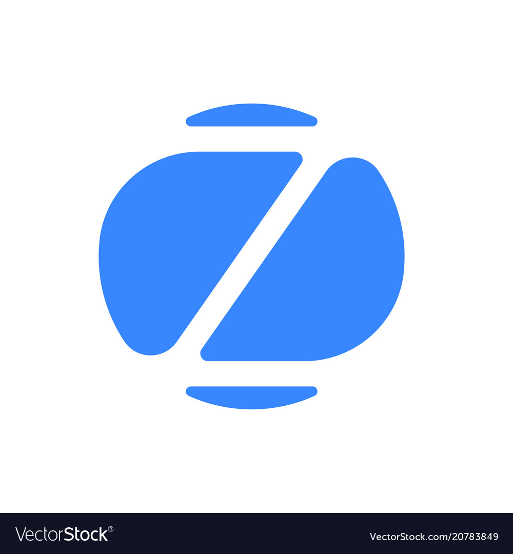Letter z logo modern blue font icon