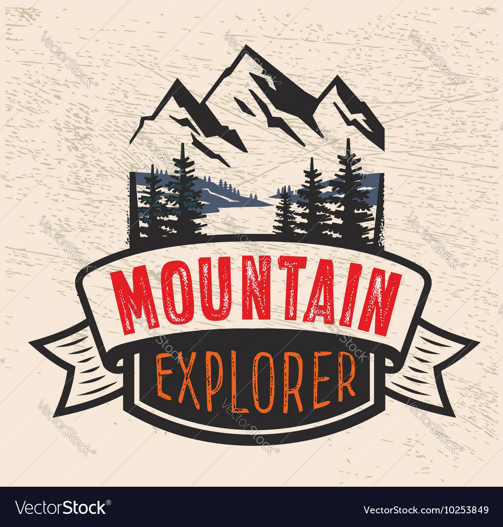 Mountain badge vector image