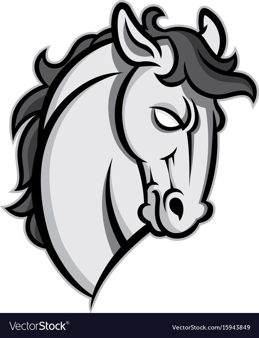 mustang stallion horse head royalty free vector image rh vectorstock com horse head vector free download horse head vector free