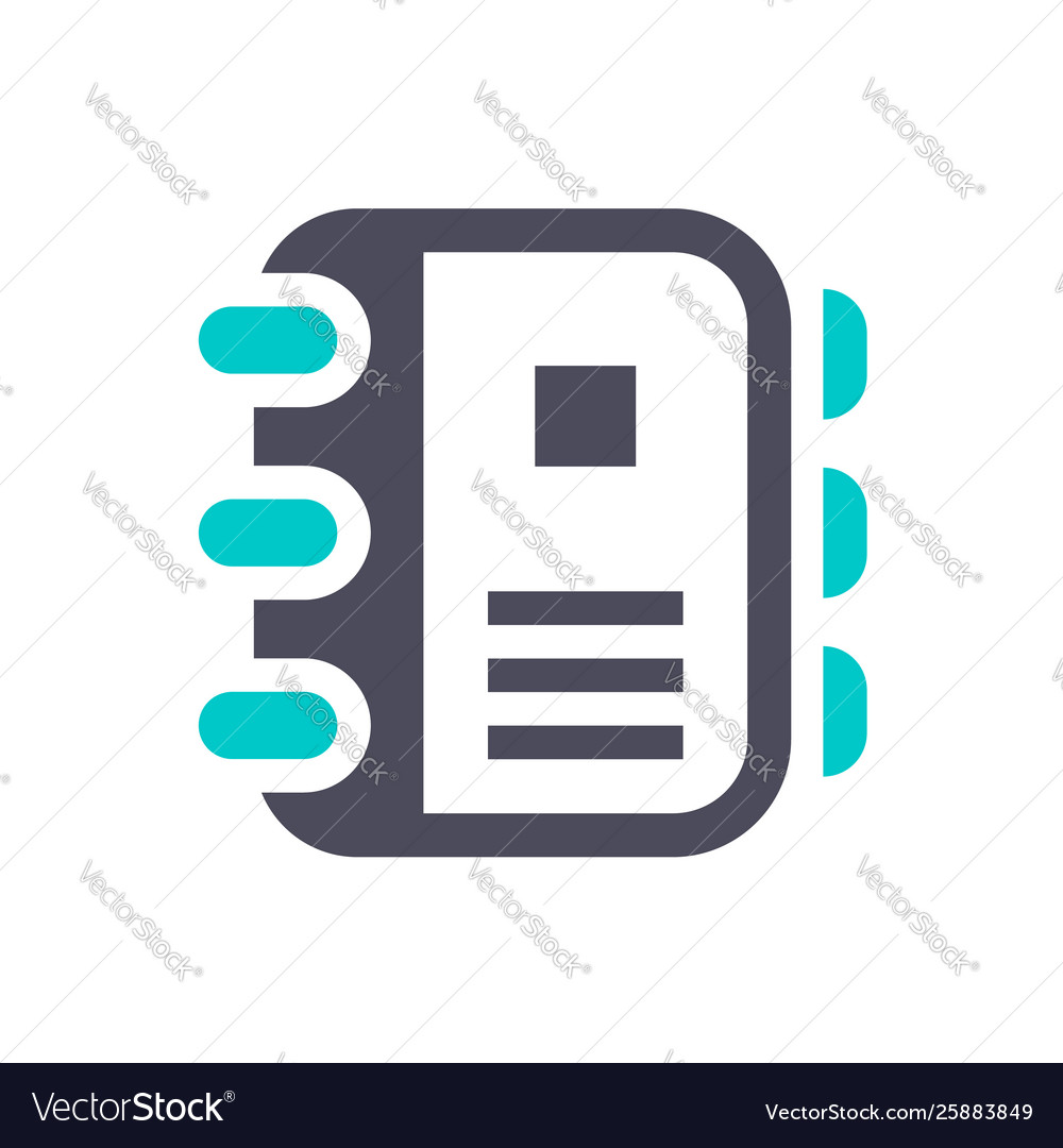 New gray turquoise icon on a white background