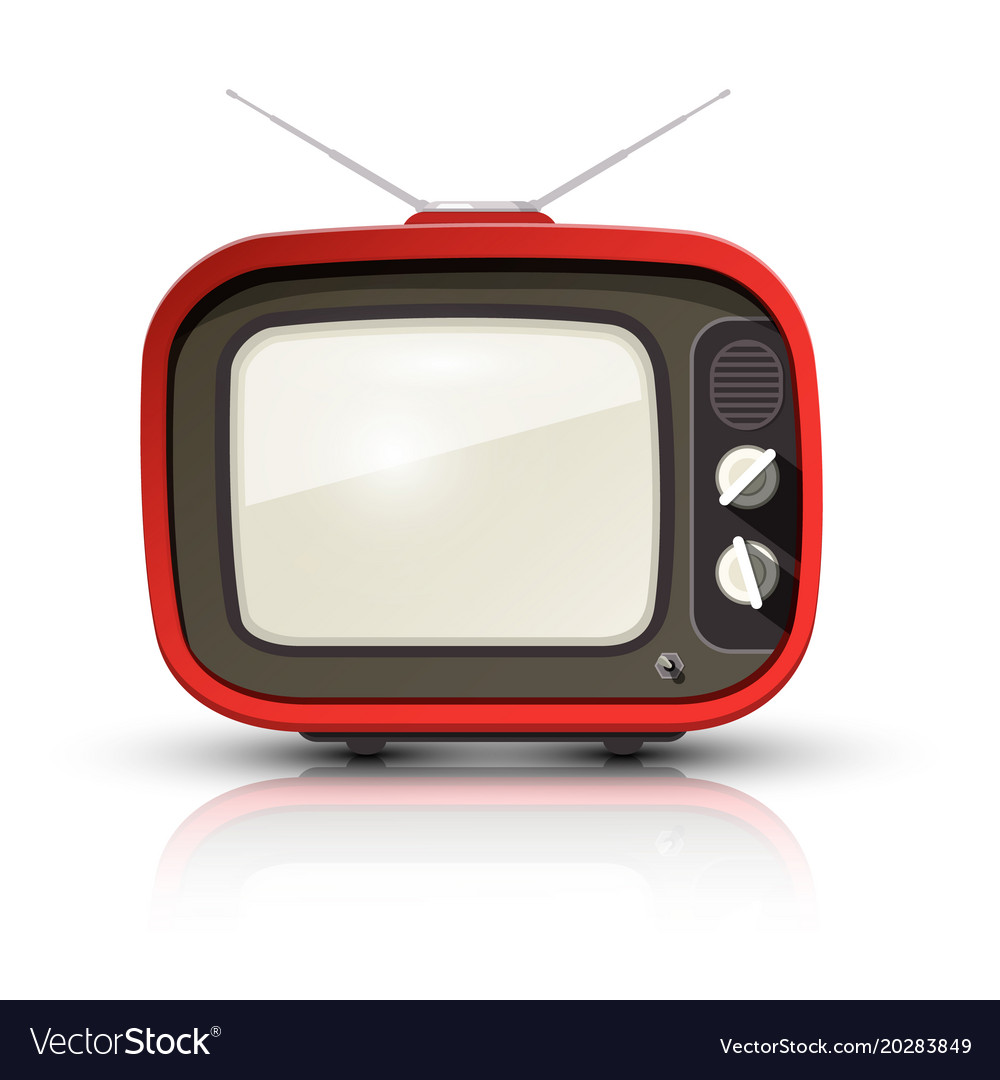 retro tv vintage realistic television isolated on vector image