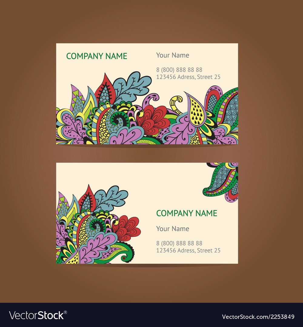 Set of 2 business cards