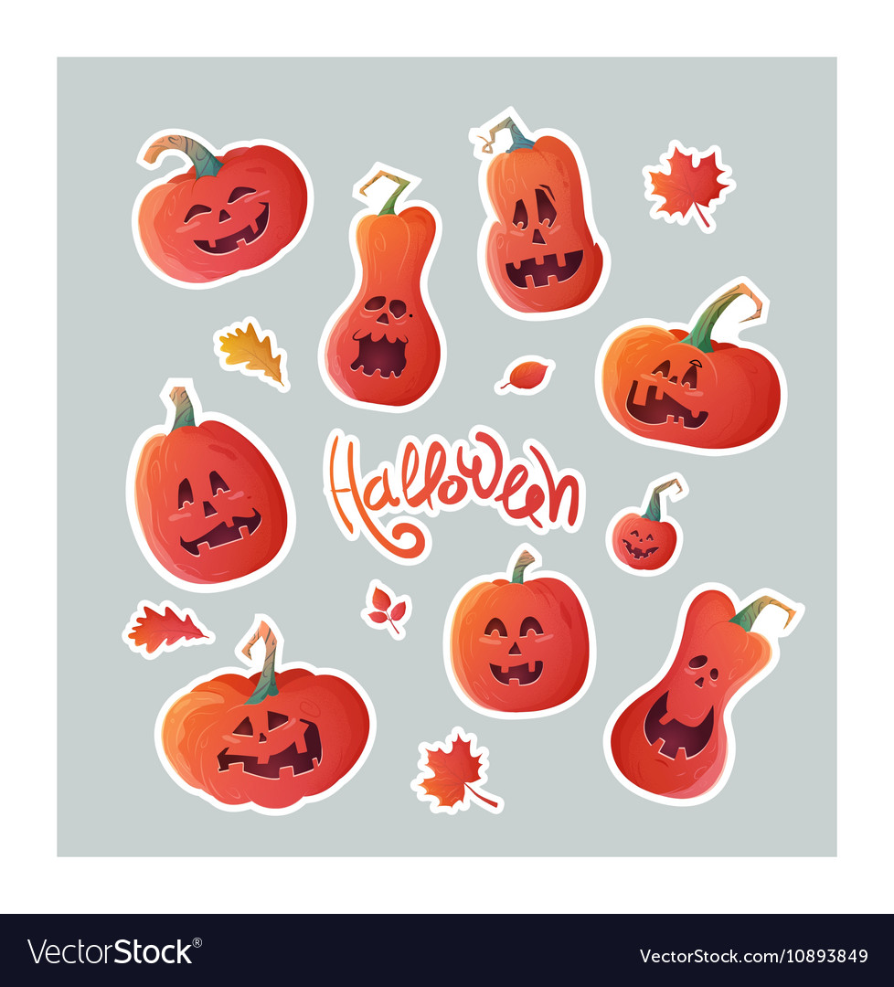 Set of stickers for Halloween