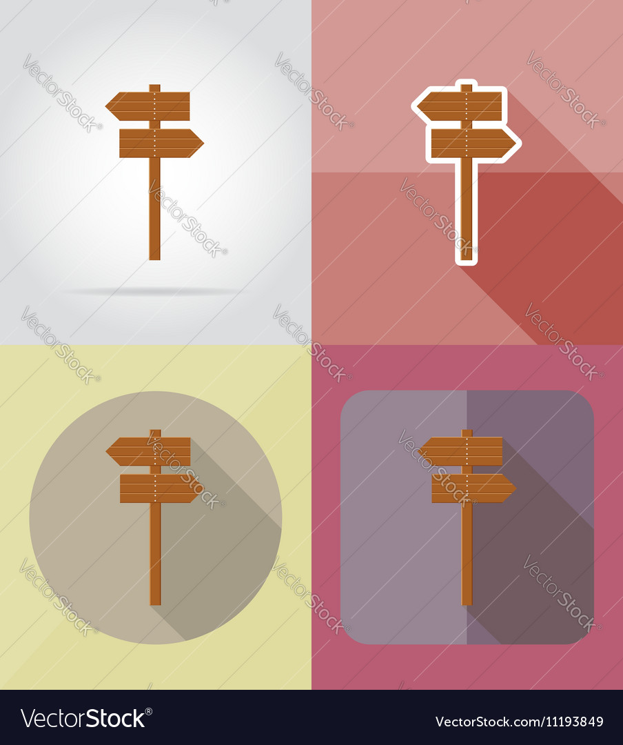 Wooden board flat icons 09