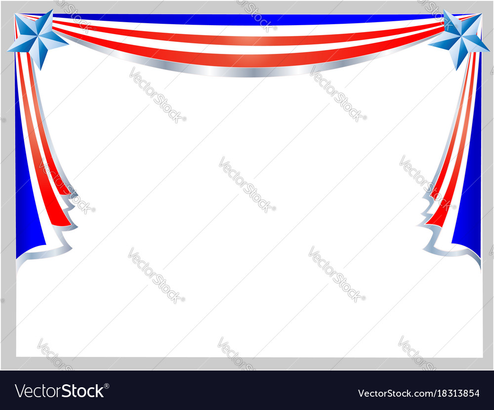 Festive patriotic american flag frame Royalty Free Vector