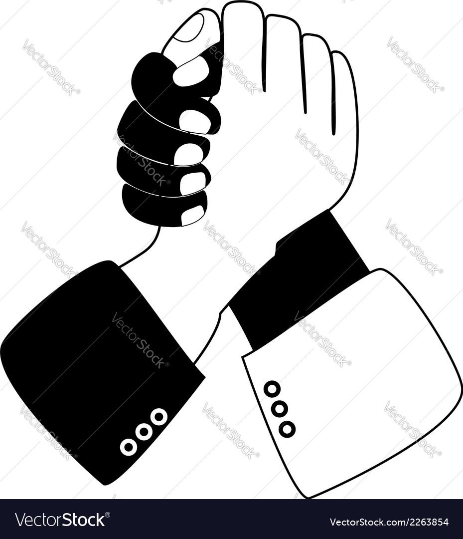 handshake blue shaking hands royalty free vector image