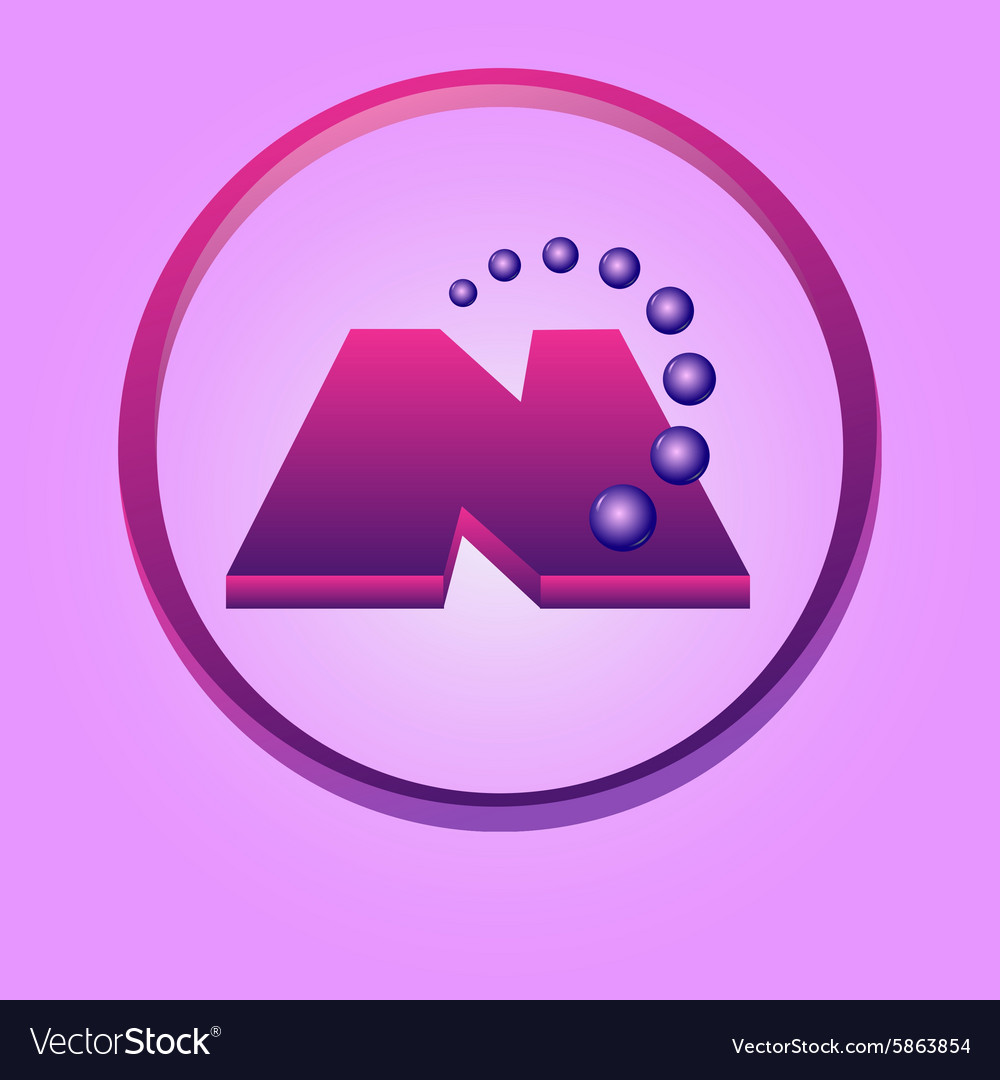 Nanotechnology symbol vector image