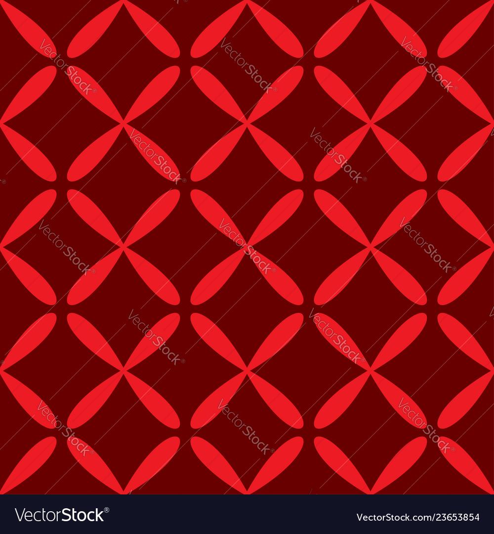 Seamless abstract grid art dark red pattern