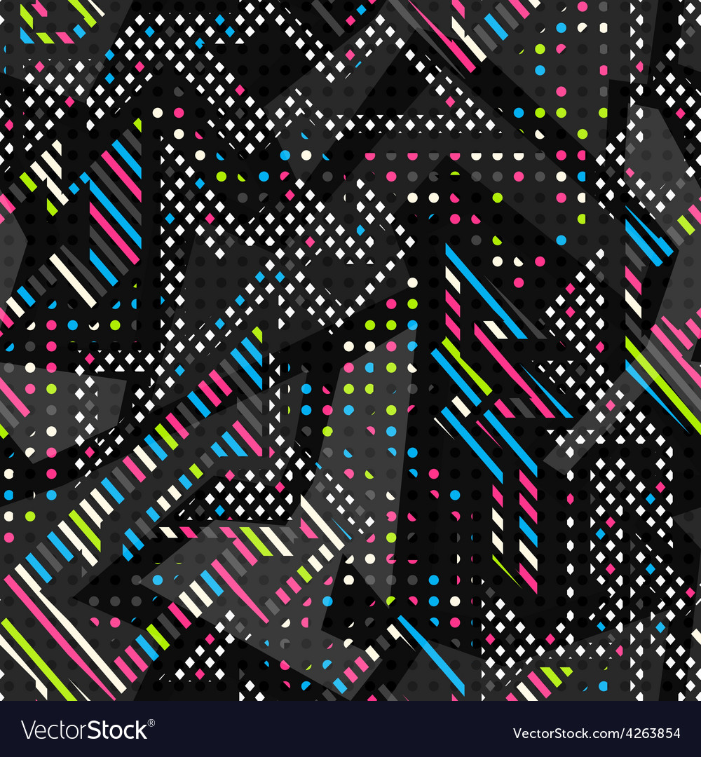 Spectrum color seamless pattern