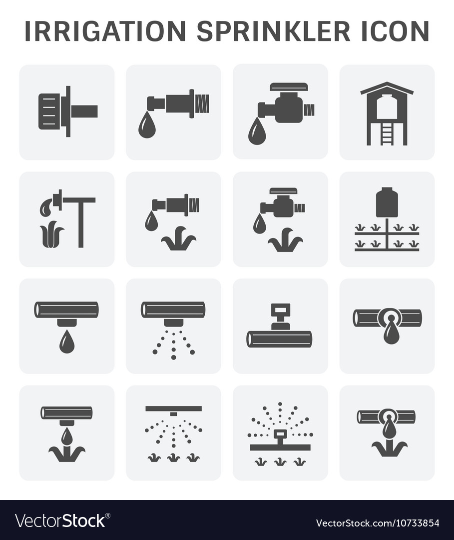 Water Sprinkler Icon Royalty Free Vector Image