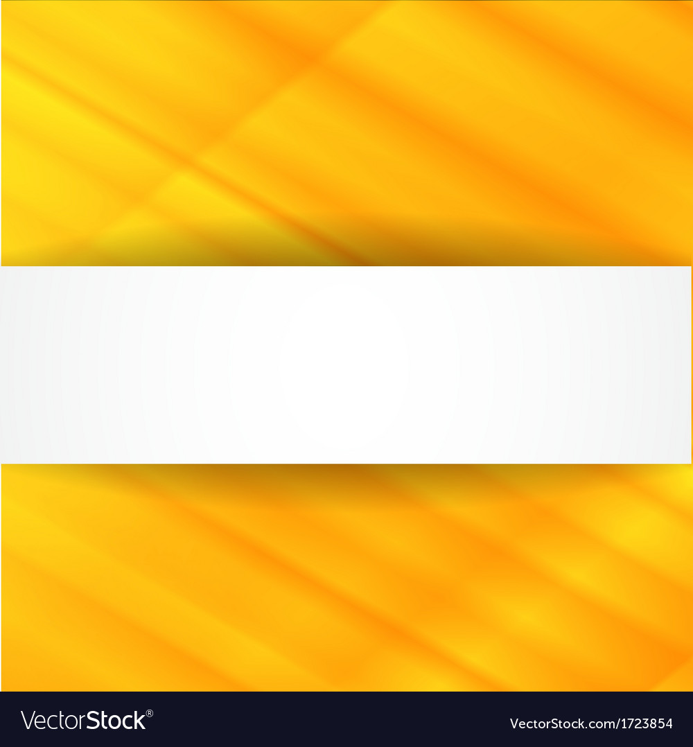 Yellow abstract background with white banner