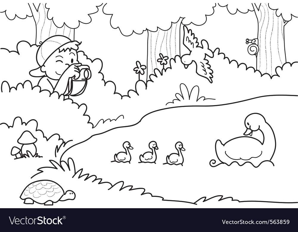 Boy shooting nature