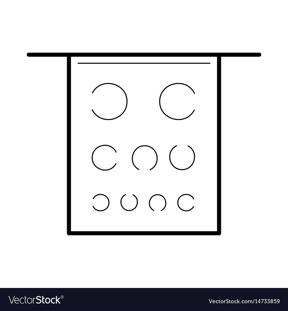 Eye test poster icon vector image