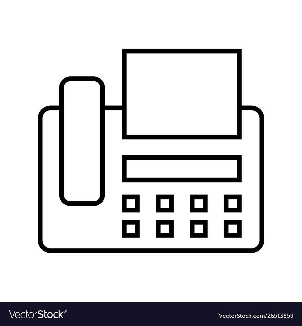 fax machine line black icon royalty free vector image vectorstock