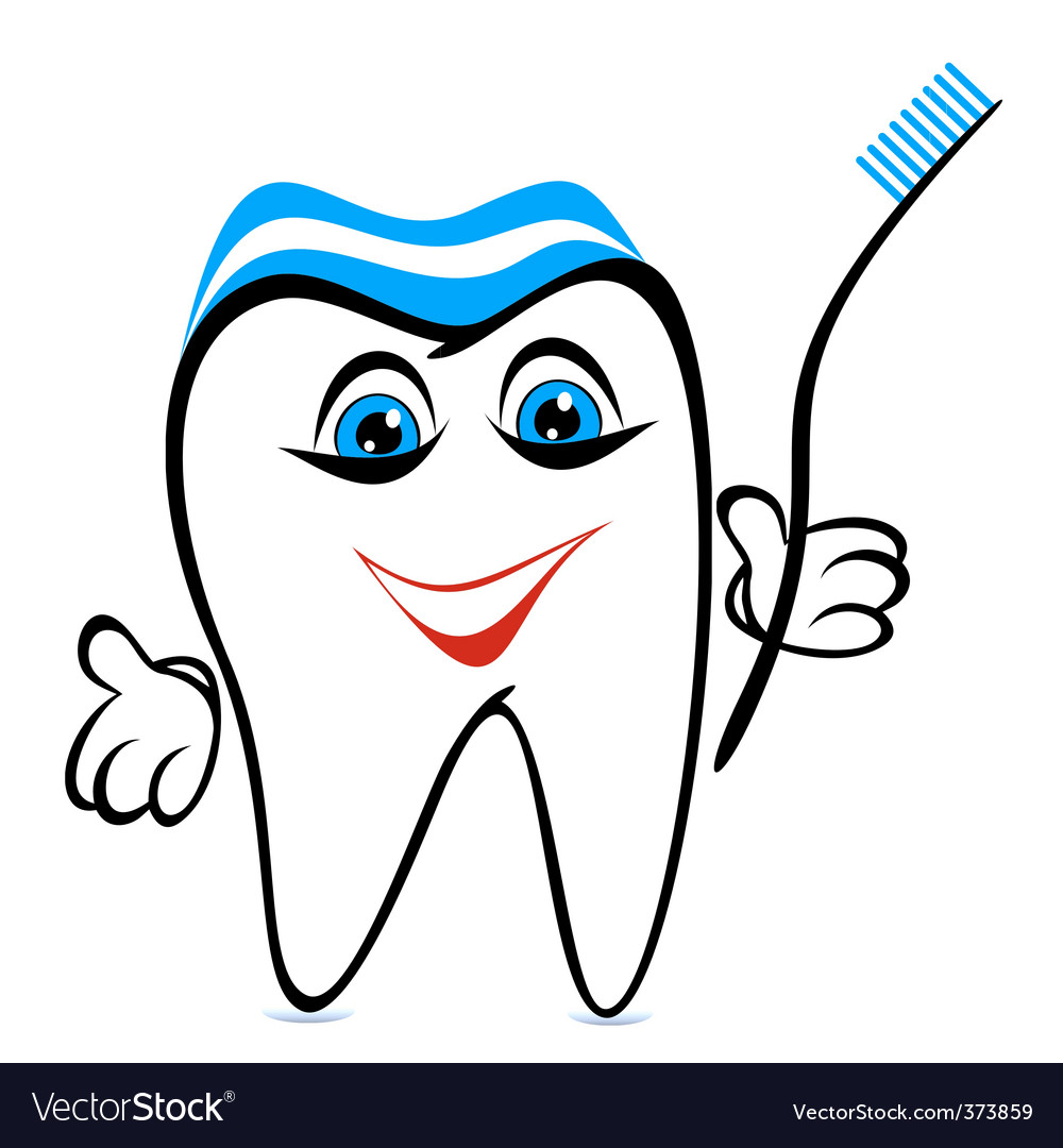 Funny tooth vector image