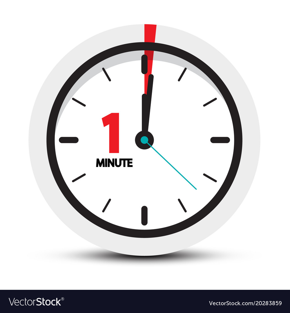 one minute clock icon royalty free vector image